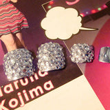 24 Pcs/Set Foot False Nail Tips With Glue Toe Art Tool Glitter Rhinestone  (As Shows) - Dealfactor Canada