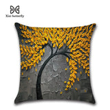 Decorations Pillows 45*45cm 3D Oil Painting Prints On Linen Fabric