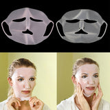 1Pc Reusable Silicone Face Skin Care Mask for Sheet Mask Prevent Evaporation Steam Reuse Waterproof  Mask Pink/White Beauty Tool (Random Color) - Dealfactor Canada