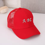 Kids Boys Girls Baseball Cap Kids Plaid Letter Snapback Caps - Dealfactor Canada