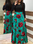 Ladies Vestidos Long Sleeve Plus Size O-Neck Dress - Dealfactor Canada