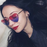 Women Vintage Heart Cute Sexy Retro Cat Eye Sunglasses