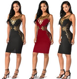 Women Sleeveless Evening Party Bodycon - Dealfactor Canada