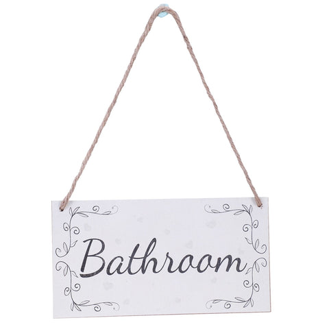 Bathroom Handmade French Shabby Chic Style Wooden Home Decor Door Sign Plaque