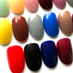 24 Colors Manicure DIY Round Fake Nails Shine Medium Plastics Ellipse Nail Art Crisp And Glossy - Dealfactor Canada
