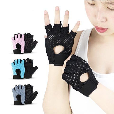 Cycling Protection Gloves Anti-slip Women Half Finger Gloves Breathable Summer Sports Gloves GEL - Dealfactor Canada