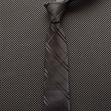 Mens Casual Slim Stripes Necktie 6cm - Dealfactor Canada