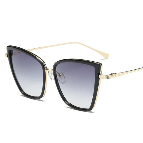 Women Designer Cateye Vintage Metal Sunglasses Mirror Retro UV400