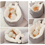 Hoopet Cat Warm Basket Bed Cat House Kennel for Dog Puppy Home Sleeping Kennel Teddy Comfortable House - Dealfactor Canada