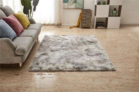 Nordic Solid Pile Plush Carpet Area Rugs For Living Room Large Size Anti-Slip