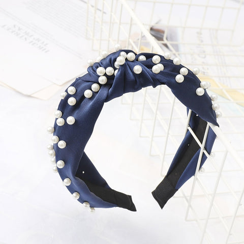 Pearl Headband for Women Bezel Simple Knotted Hair Loop - Dealfactor Canada