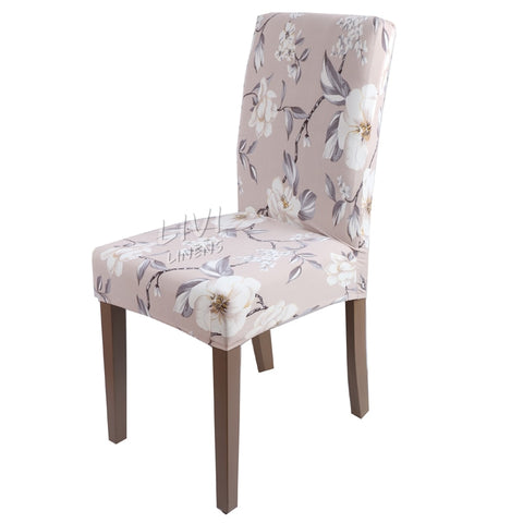 Beautiful Dining Room Seat Covers Printing Big Elastic Material