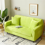 Couch Covers Solid Color Plush Thicken Elastic Universal Sectional Slipcover Stretch Material