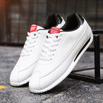 LudBA Originals© White Leather Mens Sneakers All White Dressy - Dealfactor Canada