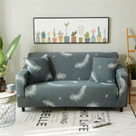 1pc Spandex Modern Sofa Cover Elastic Material Floral Polyester Slipcover