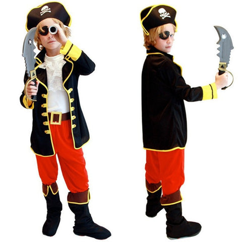 Kids Pirate Costume Cosplay Set Halloween - Dealfactor Canada