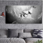 Lovers Canvas Painting Abstract Print Poster for Bedroom - Dealfactor Canada