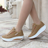 LudBA Originals® Lightweight Women's Solid Fashion Sneakers Height Increasing Breathable Stylish Waterproof - Dealfactor Canada