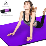 Yoga Mat Mesh Bag 183*61CM Yoga Mat Mesh Lengthen Widened Yoga Bag Net Bag Net (Black) - Dealfactor Canada
