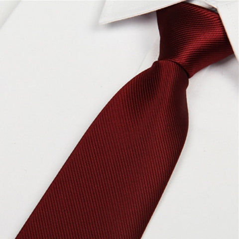 Men's Casual Wine Color Red Necktie 8cm  (C13) - Dealfactor Canada