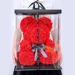25cm Red Rose Teddy Bear Rose Flower Artificial Decoration