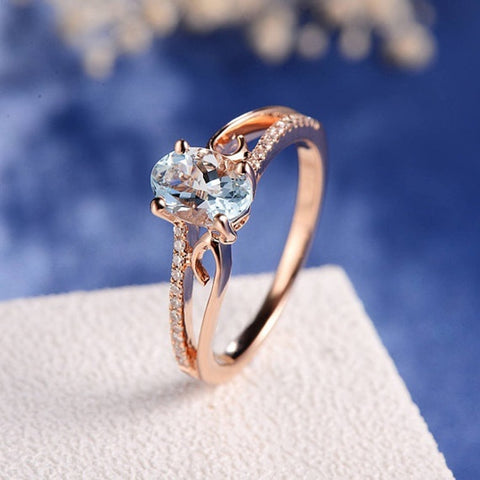 - Rose Gold Classical Cubic Wedding Ring