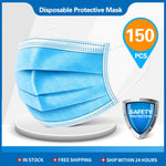 500pcs Disposable Masks 3-layer Non-Woven Face Mask Anti Dust Mouth Mask Protection Breathing Soft Protective Mask 10/50/100/200 pcs (150 PCS)