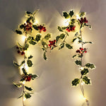 2M LED String Light Artificial Red Holly Berry Holiday DIY Home Garden Decorations Christmas Supplies Decoration For Gift