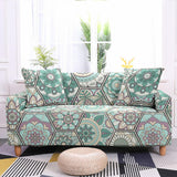 Geometric Flower Slipcovers Stretch Sofa Cover Elastic Sofa Cover For Living Room Couch Cover Sofa Protector 1/2/3/4-Seater