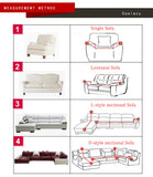 Velvet Sofa Covers for Living Room Solid Sectional Sofa Cover Elastic Material Couch Cover