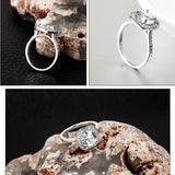 Classic Copper Luxury Crystal Silver Colored Wedding Ring - Dealfactor Canada