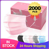 100pcs 7 Color Disposable Medical Mask Blue Pink Surgical Face Mouth Mask 3 Layer Ply Filter Non-woven Anti-Dust Earloops Mask