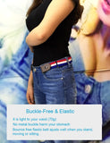 Buckle-Free Belt For Jean Pants Dresses No Buckle Stretch Elastic Waist Belt