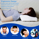 Memory Foam Bed Pillow Butterfly Shaped Cervical Pillow Contoured Wedge Bedding Pillow