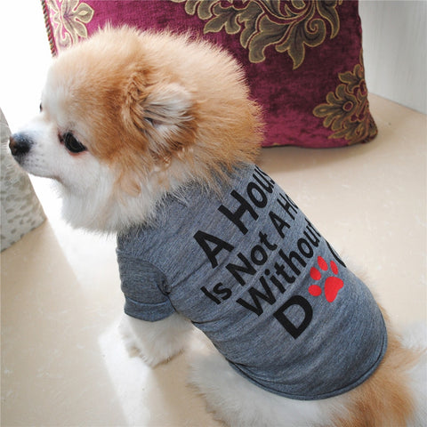 Best Dog Lover Gifts Cotton Summer Shirt Small Dog Cat Clothes Vest T Shirt