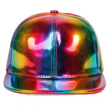 Luxury Hip Hop Baseball Cap Rainbow Color Discoloration Snapback Caps Leather Waterproof Hat