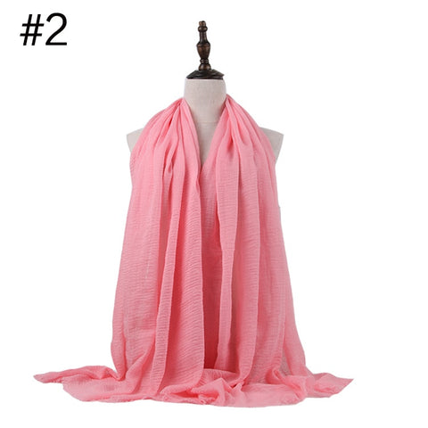 Women Head Scarf Muslim Hijab Soft Cotton