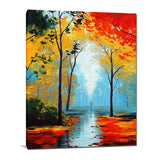 Wall Art Canvas Print Fall Tree Blossom Canvas Painting 60x90cm (24x36 inches) For Bedroom Hallway Home Décor
