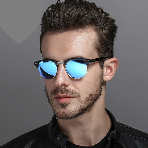 Unisex Semi-Rimless New Brand Designer Sunglasses For Unisex Polarized UV400