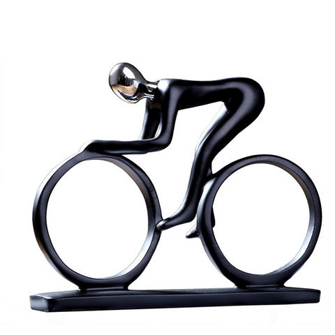 Modern Abstract Resin Bicycler Cyclist Bike Rider Figurine - Dealfactor Canada