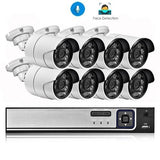 H.265 8CH 5MP POE NVR Kit Security Face Detection CCTV System Audio AI 5MP IP Camera Outdoor P2P Video Surveillance Set