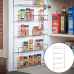5 Layers Kitchen Spice Rack Multifunctional Organizer Storage Holders Shelf Pantry Wall Hanging Holder Save Space Shelf