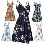 Woman Dress Summer Sexy Casual Dress Multiple Colors Spaghetti Strap