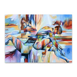 Wall Art Two Girls Abstract Canvas Print Paintings 70x90cm (27.5 x36 inches) For Bedroom Hallway Home Décor