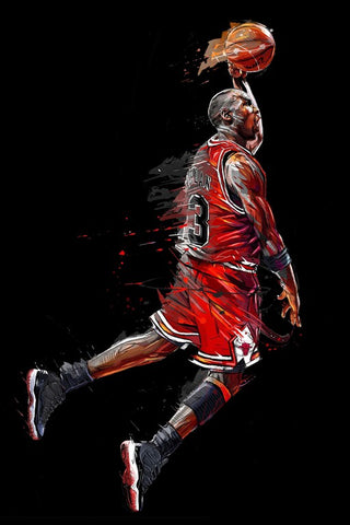 Michael Air Jordan Wall Art Canvas Print 60x100cm Great Gift For Basketball Lovers All Ages