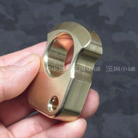 2019 Type 1000 Non Lethal Real Brass Knuckles Ring - Cakra EDC Gadgets