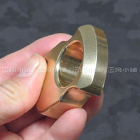 2019 Type 1000 Non Lethal Real Brass Knuckles Ring Brass Knuckles Self Defense Weapon