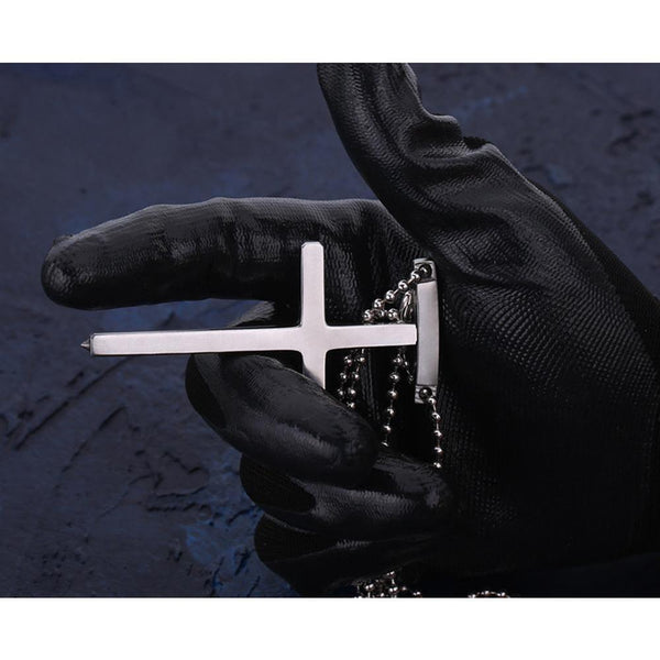 EDC Self Defense Tool Cross Pendant With Ball Chain Comtech Stinger - Cakra EDC Gadgets