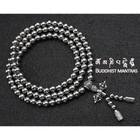Full Stainless Steel Buddism Mala Self Defense Necklace EDC Defense Tool - Cakra EDC Gadgets