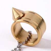 Full Stainless Steel Spike Ring Self Defense With Ball Chain - Cakra EDC Gadgets